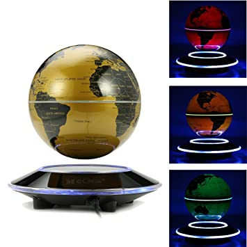 Amazon meco 6 magnetic levitation floating globe rotating meco 6 magnetic levitation floating globe rotating illuminated world map with colored led light gumiabroncs Image collections