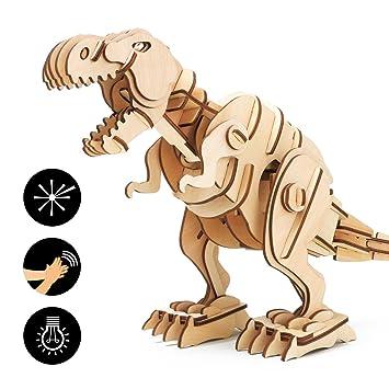 Rompecabezas Dinosaurio Rokr Madera Juguetes De 3d Con 0k8wnOPNXZ