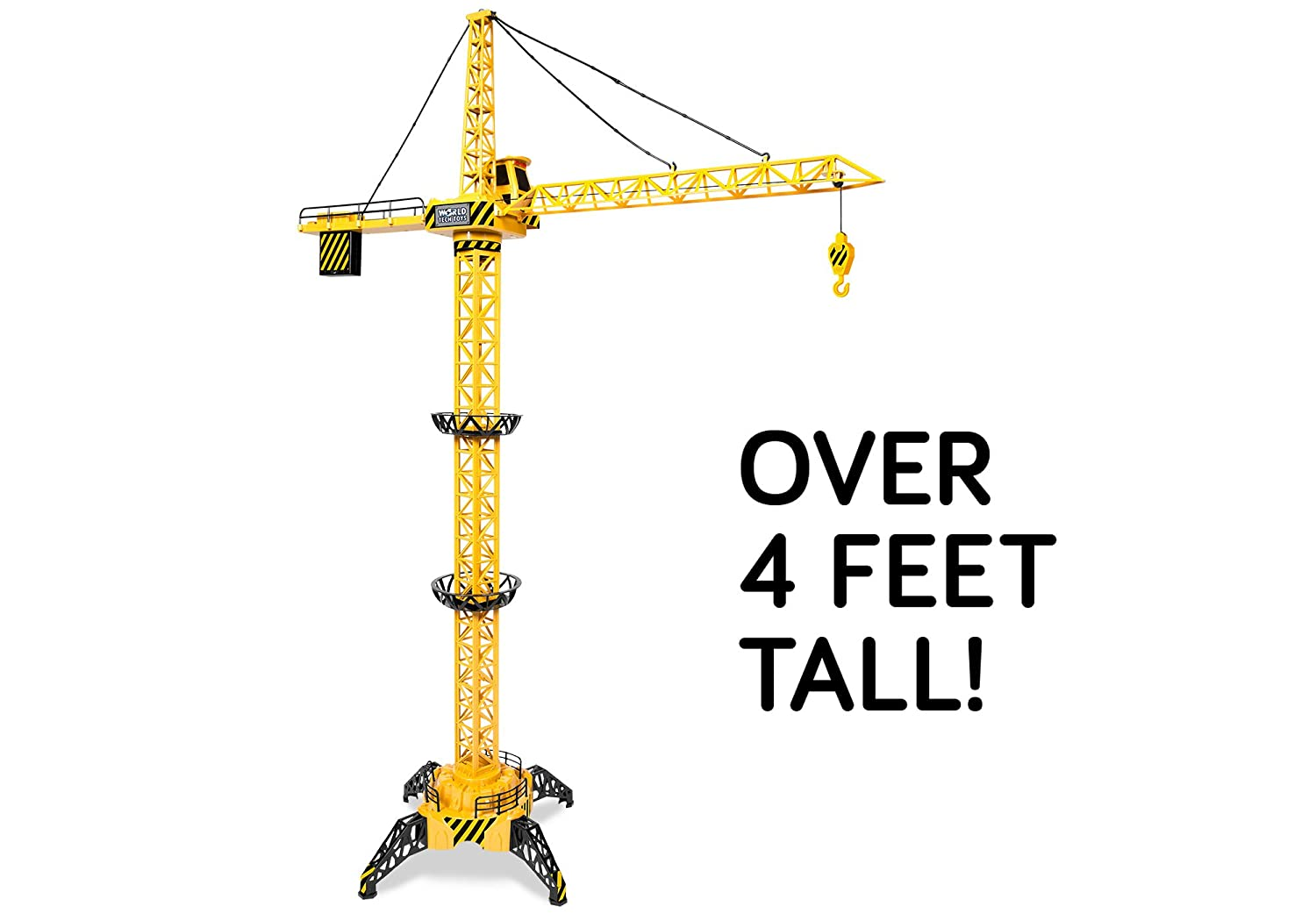 World Tech Toys Big Kid's Construction 4FT Motorized RC Crane 33079