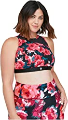 63bf45aa320dbf Lane Bryant Floral Active Sports Bra Red