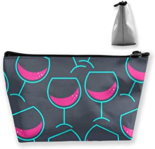 Bolsa de Maquillaje Estuche de Viaje Cóctel o Copas de Vino Patrón Organizador Impreso Almacenamiento para Mujeres niñas con Estilo: Amazon.es: Equipaje