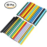 ATPWONZ 60 pcs Barras de cola de alta temperatura multiusos 7 x 100 mm (Multicolor)