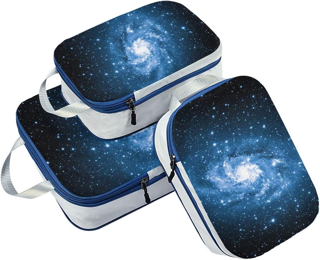 e Traungulum Galaxy 3 Set Packing Cubes,2 Various Sizes Travel Luggage Packing Organizers
