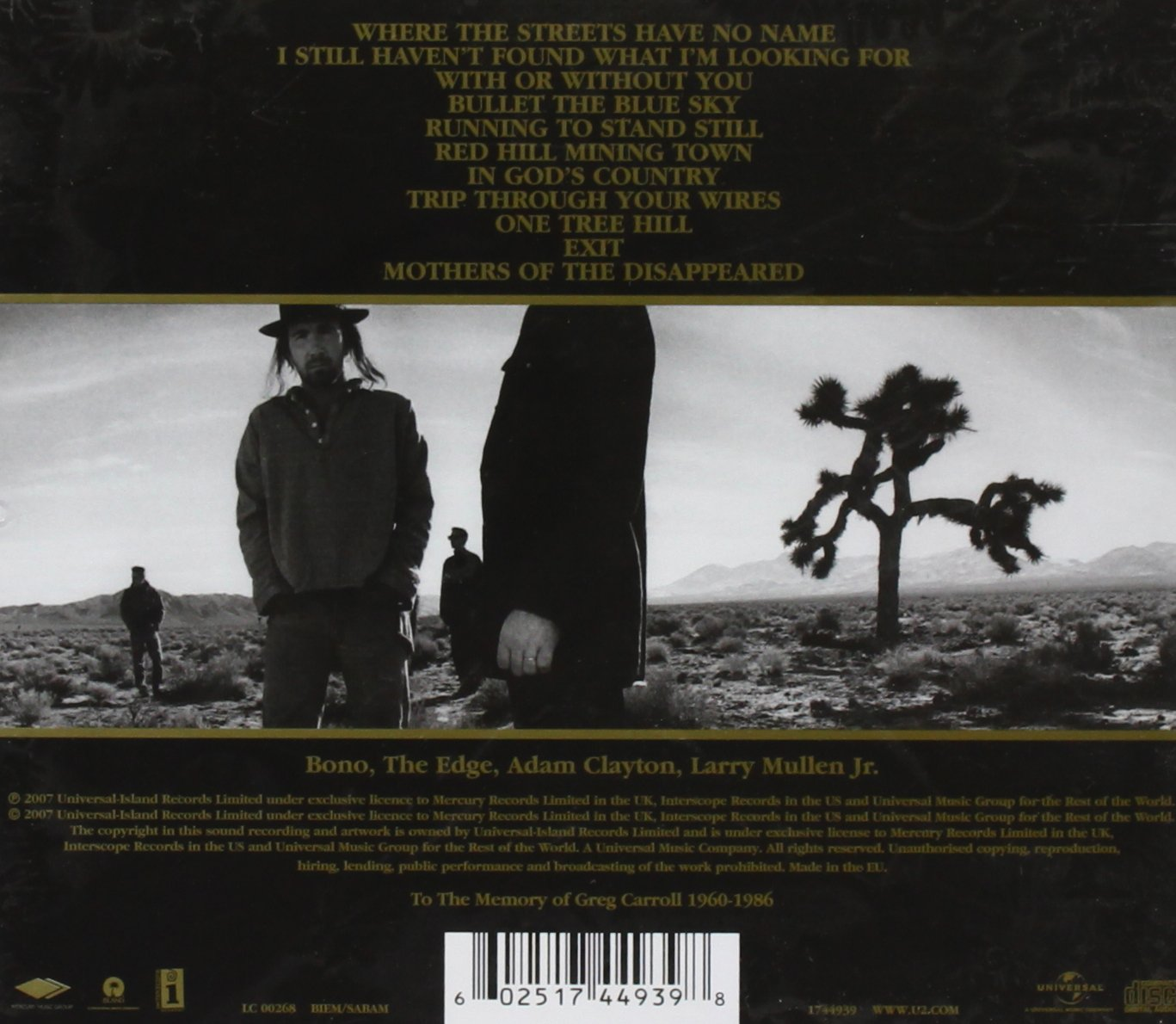 The Joshua Tree [Remastered] by Island