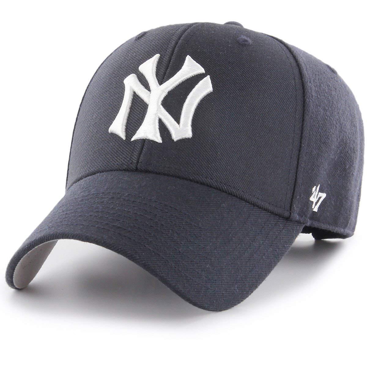 2ae9fe95722  47 Brand MLB New York Yankees MVP Cap - Navy  Amazon.co.uk  Clothing