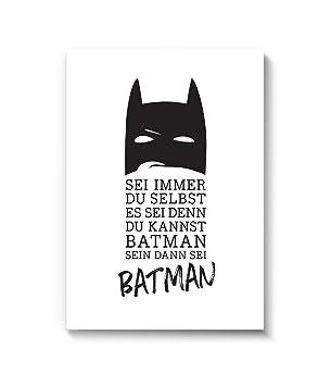 Wandbild Batman Din A4 21cm X 29 7 Wanddeko Von Marelle Kunstdruck Poster Bild Wall Art Druck Print Plakat Spruch Statement
