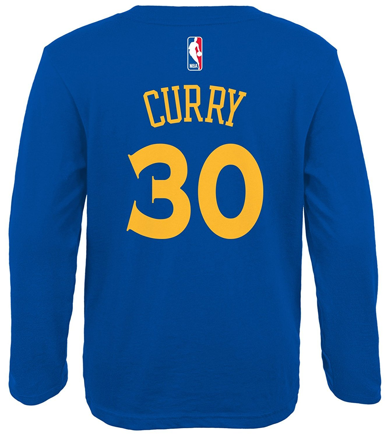 wholesale dealer 82a02 9fdf0 Outerstuff Stephen Curry Golden State Warriors #30 Player Name and Number  Long Sleeve Jersey T-Shirt