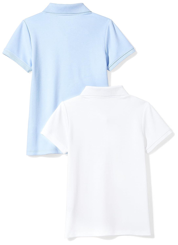 Essentials Girls Girls Short-Sleeve Uniform Interlock Polo Polo Shirt