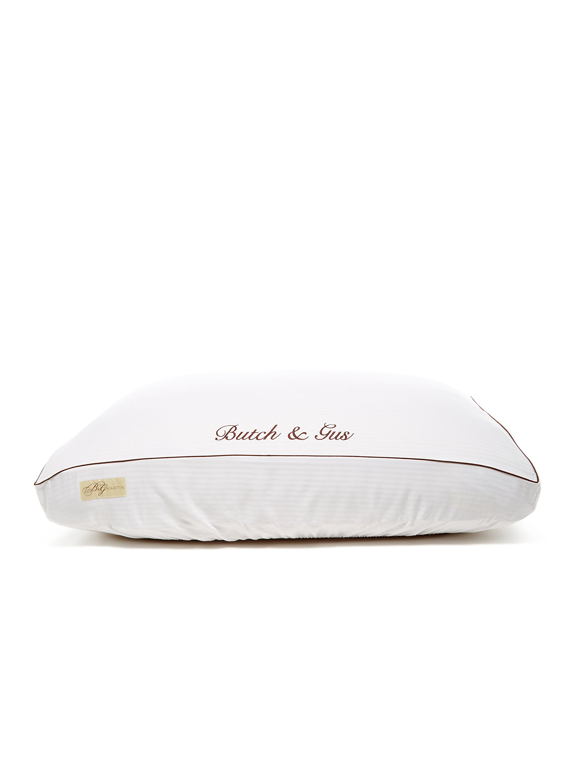 Premium Frette White with Chocolate Piping Fitted Linens - Frette Choc - LG
