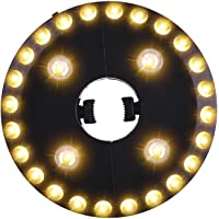 OYOCO Warm White Patio Umbrella Light 3 Brightness Modes Cordless 28 LED Lights at 200 lumens 4 x AA Battery Operated,Umbrella Pole Light for Patio Umbrellas,Camping Tents