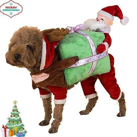 Foto Di Cani Vestiti Da Babbo Natale.Vestiti Per Cani E Gatti Costumi Natalizi Giacca Per