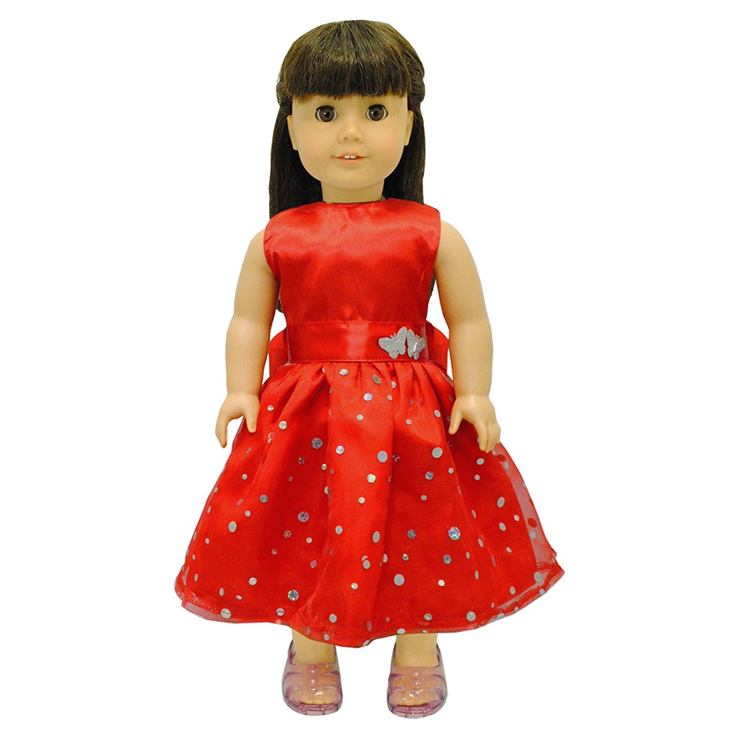 Fit For 18/'/' American Girl Doll Accessories Handmade New Meet Outfit Red Socks