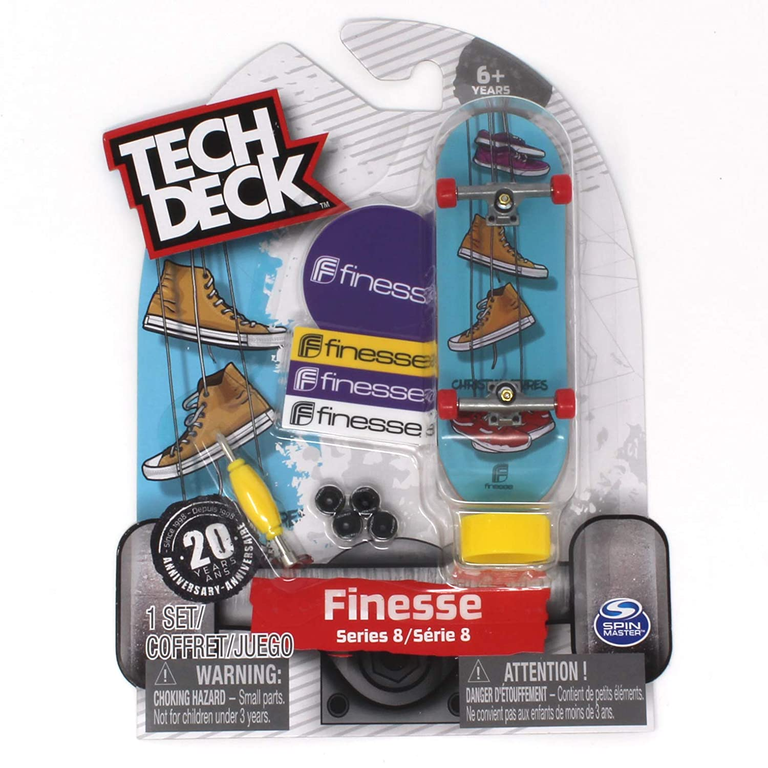 Tech Deck Finesse Skateboards Rare Series 8 Christian Flores Hanging Shoes Fingerboard 20094606