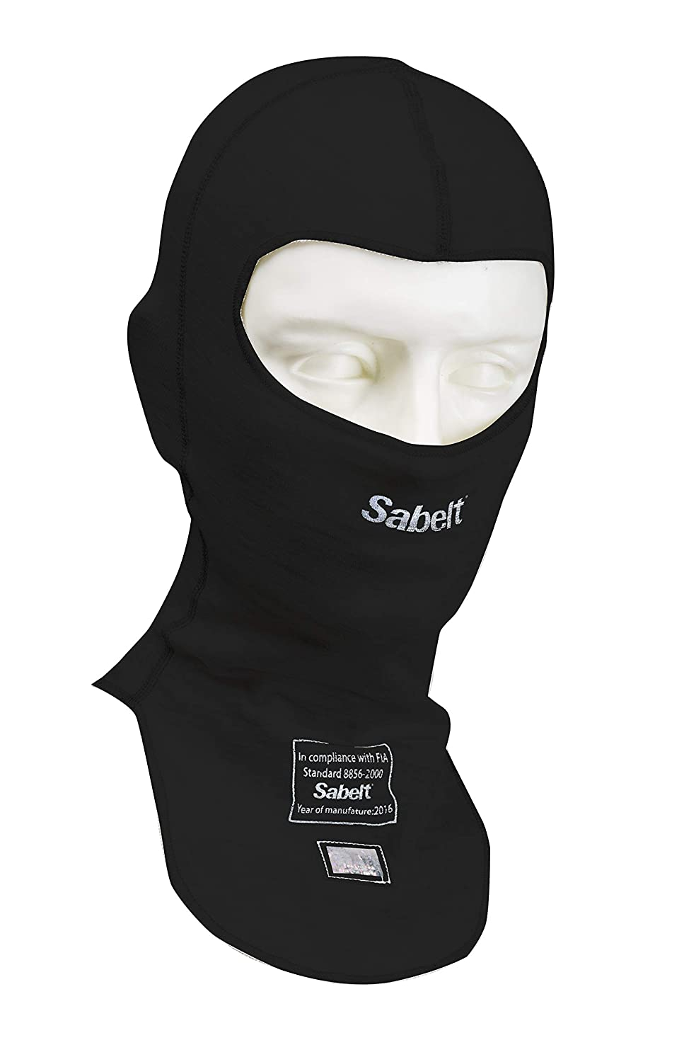 FIA Approved One Size Fits All Sabelt UI-500 StretchFit Nomex Balaclava White