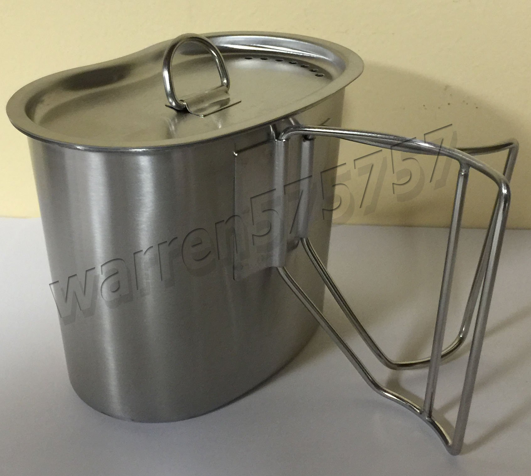 New Military Style 1 qt Desert CAMO Issue Canteen Cover. G.A.K Stainless Steel Canteen with Cup and New Surplus G.I
