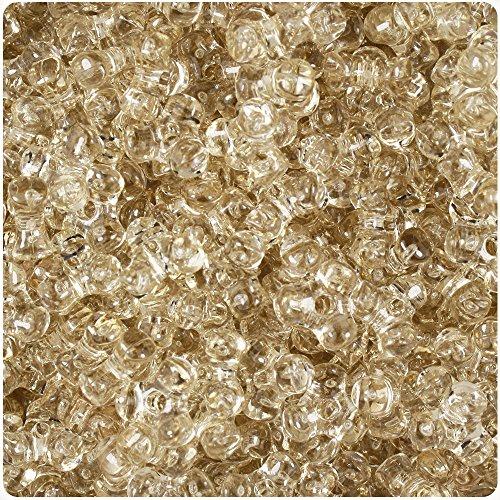 BEADTIN Champagne Transparent 11mm TriBead Craft Beads (600pc) (Champagne Transparent)