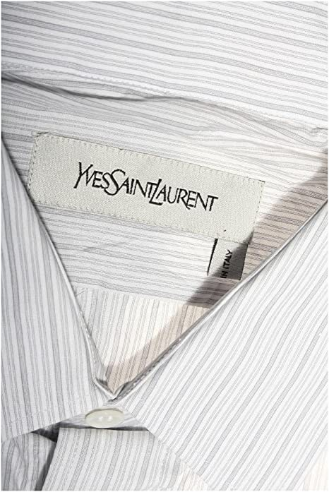 Yves Saint Laurent - Camisa casual - para hombre gris Small ...