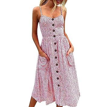 Vestido para mujer, 2018, diseño de flores de Bohemio, manga corta, vestido