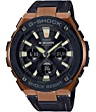 Men's Casio G-Shock G-Steel Black Tough Leather Strap Watch GSTS120L-1A
