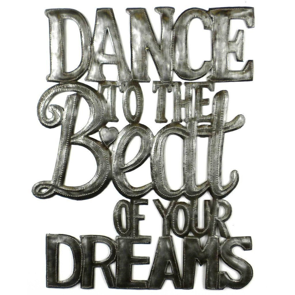 Dance to the Beat of Your Dreams Metal Wall Art