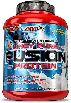 AMIX - Proteína Whey - Pure Fusion - 2,3 Kg - Concentrado de Suero Ultra Filtrado - Proteína Isolada con Splenda - Contiene L-glutamina - Proteínas ...