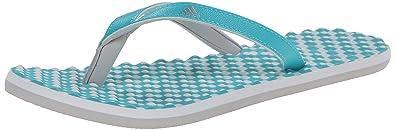 detailing f3ecf 89be4 adidas Performance Womens Eezay Dots W Athletic Sandal, Vivid  MintMetallicSilver