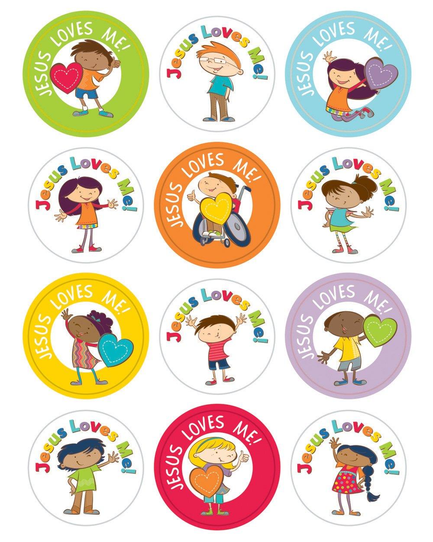 amazon com jesus loves me sticker pack carson dellosa