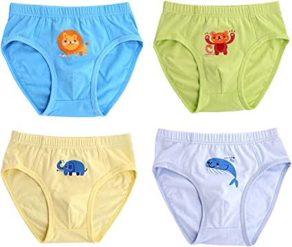 Sivice - Pack de 4 Calzoncillos Estampado Animal para Niños Slips ...