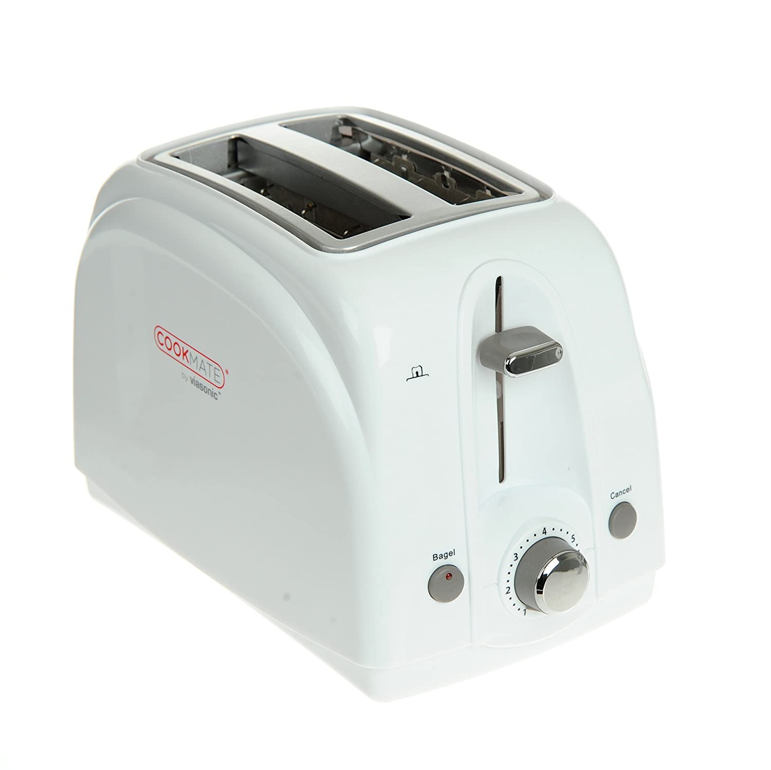 Cookmate 2-Slice Toaster, 7 Temperature Levels, Sleek Unibody Frame - Quick Bagel Button - 750W ETL-Listed, By Unity