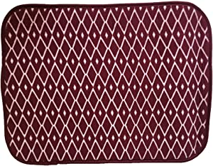 Allure Home Creation RR Drying Mat - Red Diamond