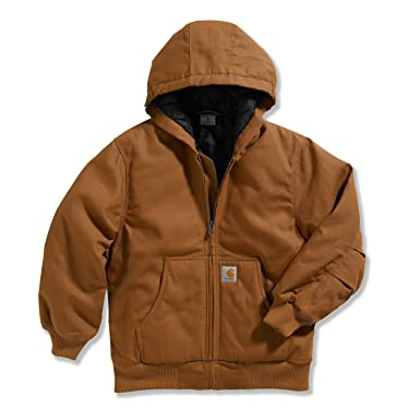 f45f948ace8 Carhartt Little Boys' Work Active Jacket, Carhartt Brown, XX-Small/4