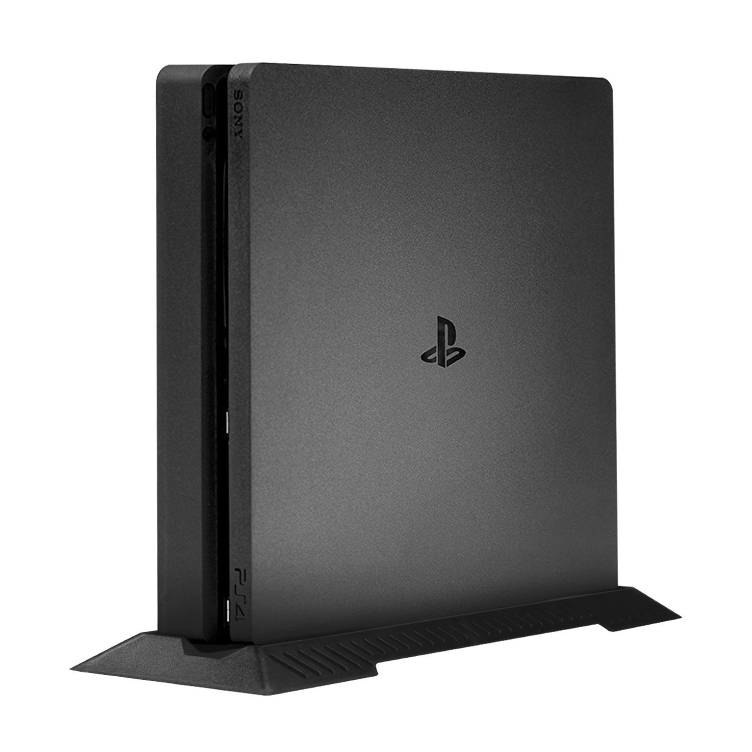Younik Vertical Stand for PS4 Slim, Built-in Cooling Vents and Non-Slip Feet Steady Base Mount for Playstation 4 Slim, Black