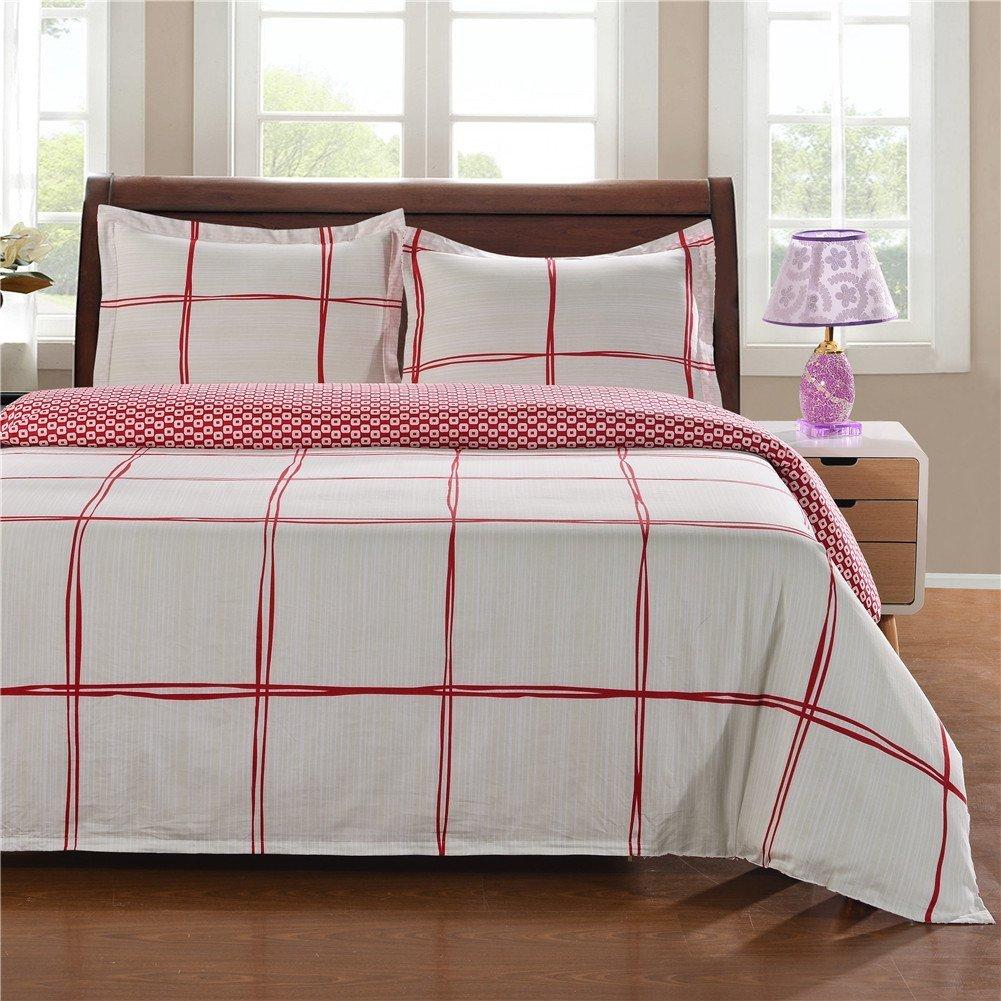 Bomo Bedding 100% Cotton 3pcs Duvet Cover Set