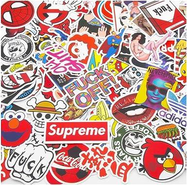 Lot 100 Random Vinyl Laptop Skateboard Stickers bomb Luggage Decals Dope Sticker