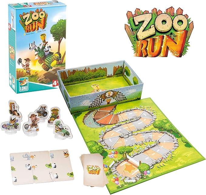Lúdilo-Zoo Run Loki, Mesa para niños, cooperativo, Juegos educativos Infantiles, Color carbón 516009: Amazon.es: Juguetes y juegos