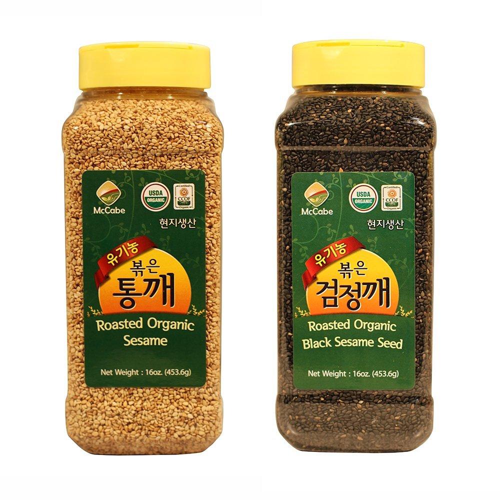 McCabe Organic Sesame Seed (2-Pack) (Sesame Seed and Black Sesame Seed)