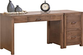"""product image for DutchCrafters Amish Solid Wood 48"""" Office Writing Desk with 2-Drawer File Cabinet Made in America"""