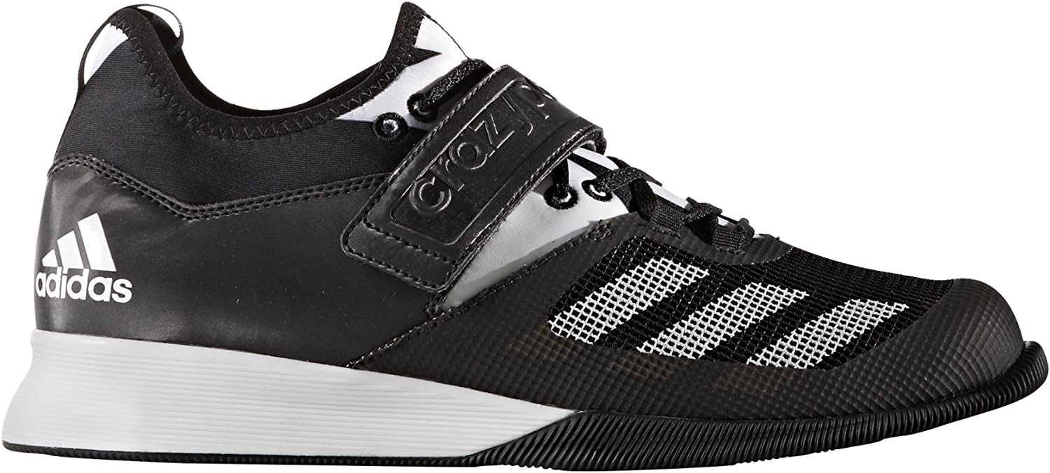 adidas Crazy Power Weightlifting Shoes Black White BA9169