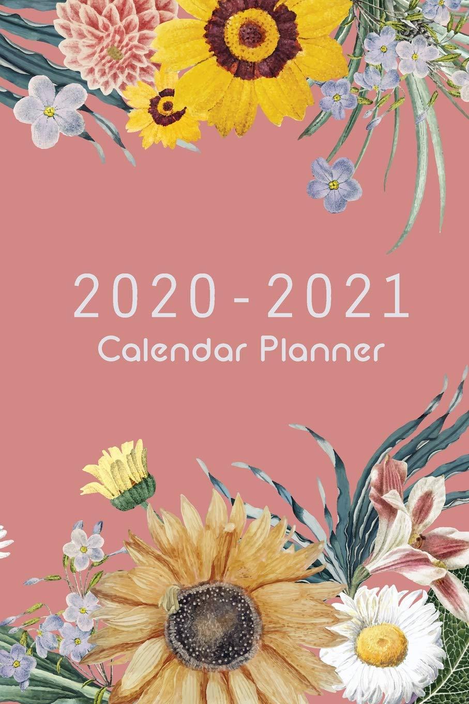 2020 2021 Calendar Planner: Pink Cover And Sun Flower, 24 Months