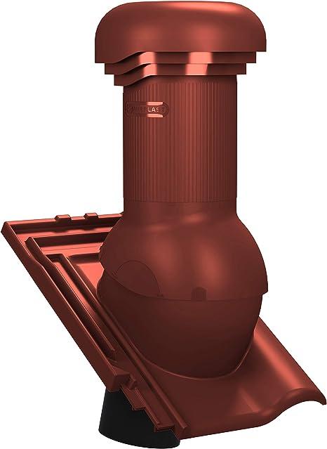 RAL 3009 - Rot Langenzenn L15 Dachziegel Entl/üfter Dachl/üfter Entl/üfterkamin DN125 f/ür Koramic