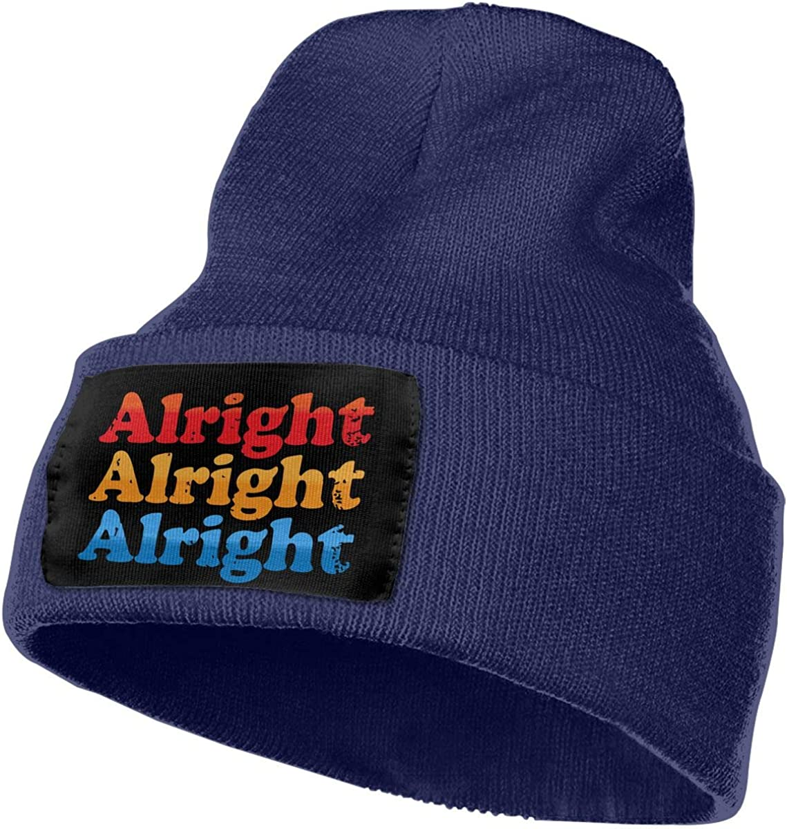 COLLJL-8 Unisex Alright Alright Alright Outdoor Stretch Knit Beanies Hat Soft Winter Skull Caps