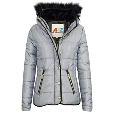 ef36e2b8f764 A2Z 4 Kids® Girls Jacket Kids Designer s Silver Padded Puffer Bubble ...