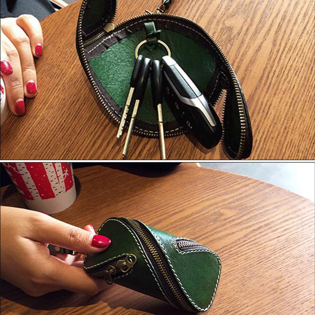 Huyiko 4pcs Acrylique Transparent Cl/é De Voiture Sac Mini Cas Coin Porte-monnaie Motif Gabarit Mod/èle Outil DIY Ensemble En Cuir Artisanat