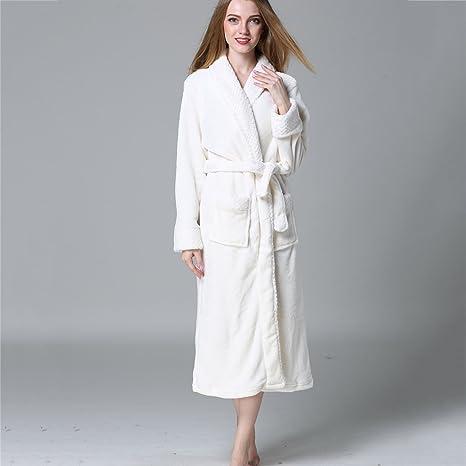Pijama Correa para albornoz para hombre y mujer y dos bolsillos delanteros camisón cálido y acogedor