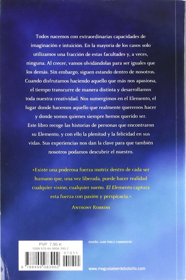 El Elemento: Descubrir tu pasión lo cambia todo CLAVE: Amazon.es: Ken  Robinson: Libros