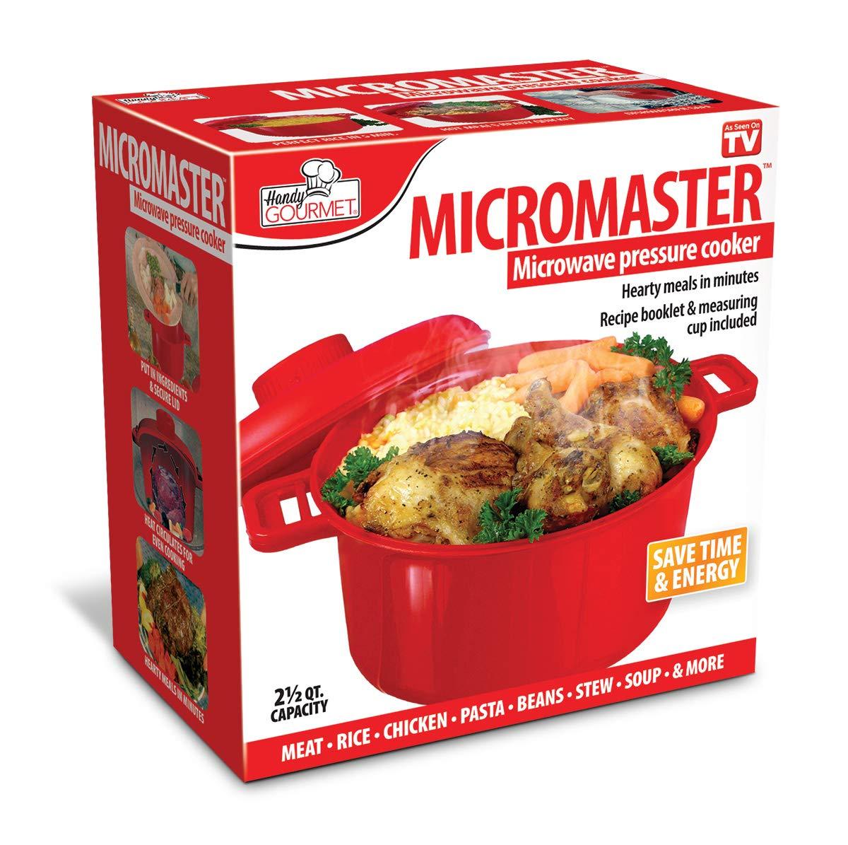 JOBAR HANDY GOURMET MICROMASTER - Olla a presión para microondas ...