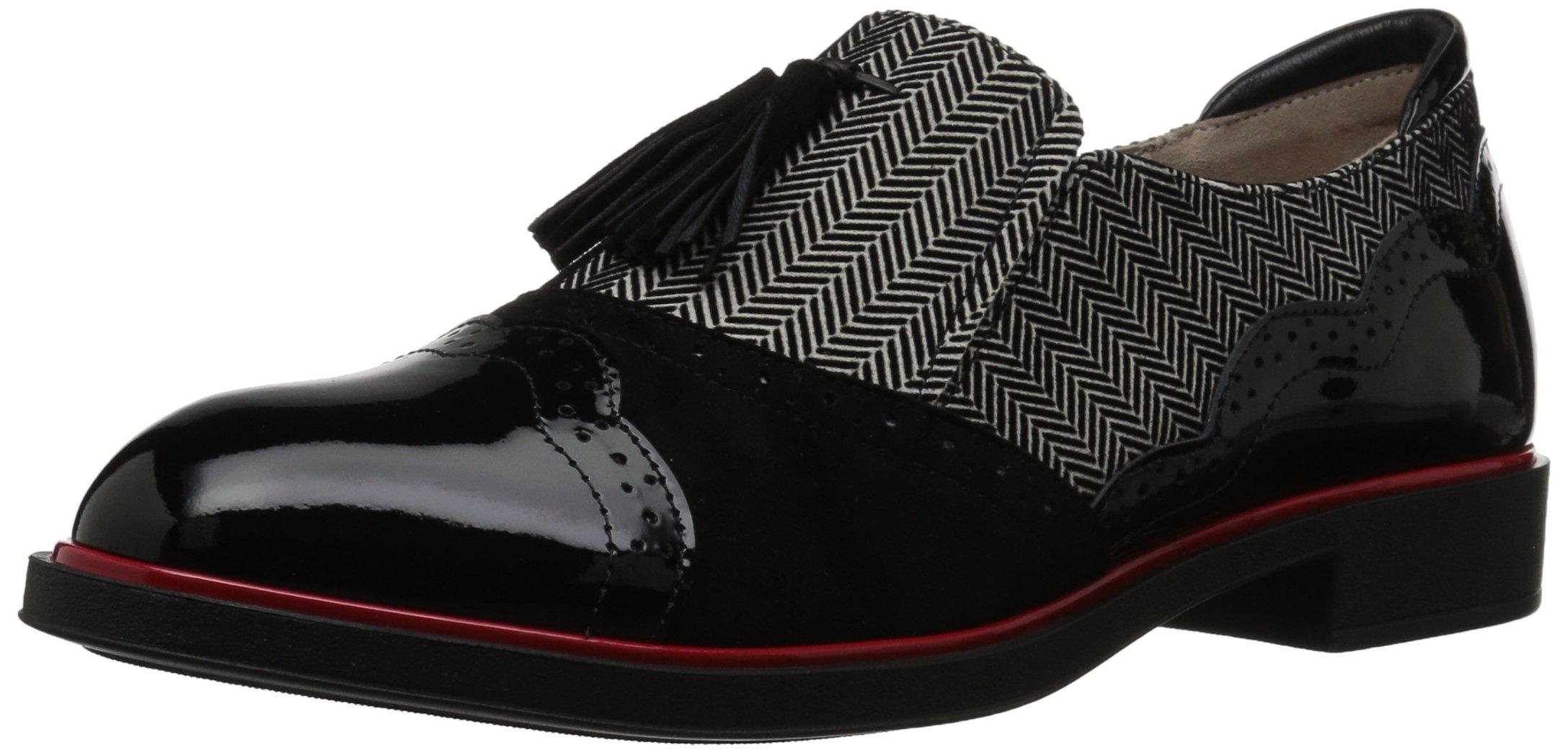 BeautiFeel Women's Ria Loafer, Ivory/Black 3D Spigato Combination, 39 Medium EU (8 US)