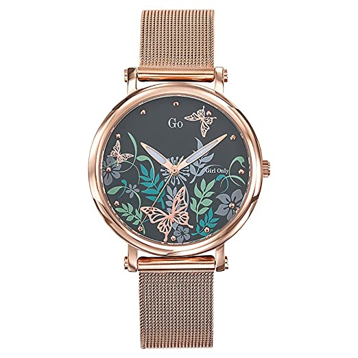 GO Girl Only Reloj Analógico para Mujer de Cuarzo con Correa en Acero Inoxidable 695186: Amazon.es: Relojes