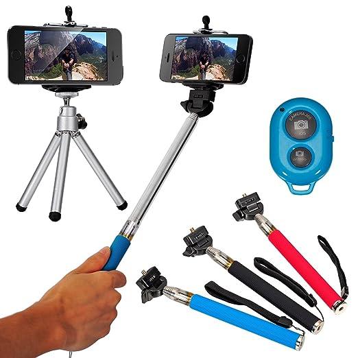 282 opinioni per Blu Portatile Selfie Monopiede Telescopico Autoscatto Stick estensibile +
