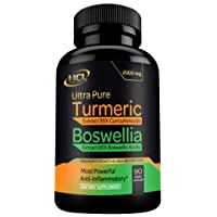 Turmeric Boswellia Extract Supplement – Strong Natural Pain Relief & Joint Support...